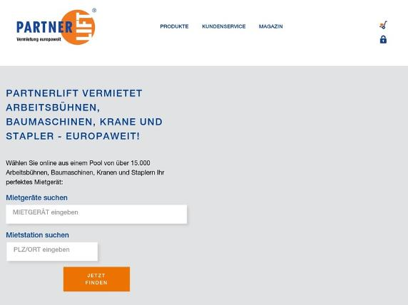 Screenshot von http://www.partnerlift.com